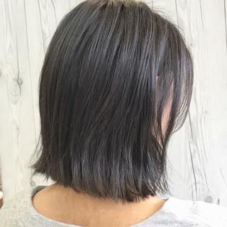 モード 暗髪 ボブ グレー ヘアスタイルや髪型の写真・画像