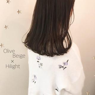 ナチュラル ロブ ゆるナチュラル ハイライト ヘアスタイルや髪型の写真・画像