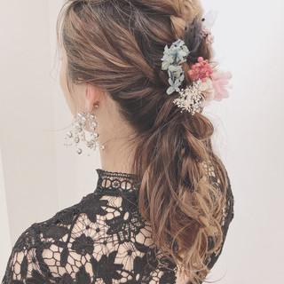 大人かわいい 透明感 フェミニン 結婚式 ヘアスタイルや髪型の写真・画像