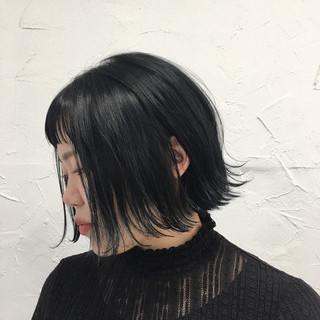 ボブ タンバルモリ 原宿系 切りっぱなし ヘアスタイルや髪型の写真・画像