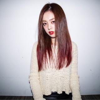 モード かっこいい ピンク レッド ヘアスタイルや髪型の写真・画像