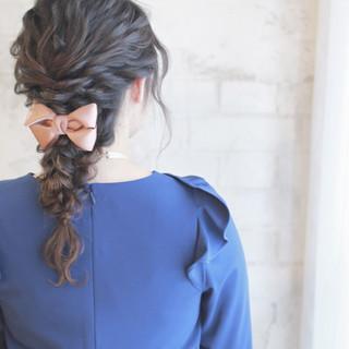 ゆるふわ 簡単ヘアアレンジ ショート フェミニン ヘアスタイルや髪型の写真・画像