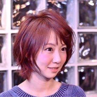 大人かわいい ベージュ ストリート 卵型 ヘアスタイルや髪型の写真・画像