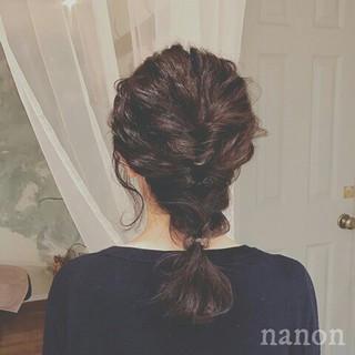 ヘアアレンジ ミルクティー 大人かわいい 上品 ヘアスタイルや髪型の写真・画像 ヘアスタイルや髪型の写真・画像