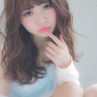 色気 ガーリー ミルクティー マッシュ ヘアスタイルや髪型の写真・画像