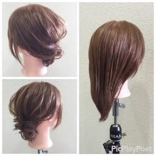 ヘアアレンジ 結婚式 女子会 ミディアム ヘアスタイルや髪型の写真・画像