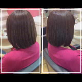 髪質改善カラー ナチュラル 艶髪 髪質改善トリートメント ヘアスタイルや髪型の写真・画像