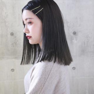 大人かわいい 外国人風 ストレート ナチュラル ヘアスタイルや髪型の写真・画像