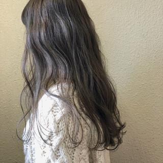 ロング くすみカラー 結婚式 女子力 ヘアスタイルや髪型の写真・画像