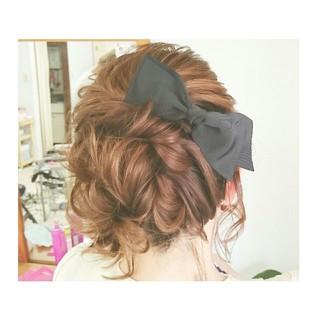 ボブ ゆるふわ ヘアアレンジ 簡単ヘアアレンジ ヘアスタイルや髪型の写真・画像 ヘアスタイルや髪型の写真・画像