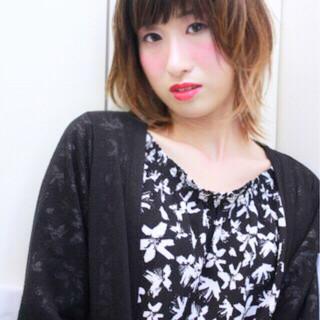 外国人風 バレイヤージュ ダブルカラー ブリーチ ヘアスタイルや髪型の写真・画像