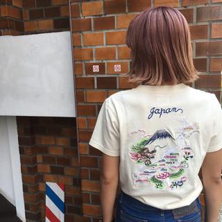 外国人風 グラデーションカラー ボブ ダブルカラー ヘアスタイルや髪型の写真・画像