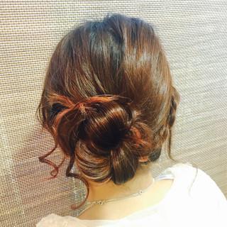 簡単ヘアアレンジ お団子 セミロング ヘアアレンジ ヘアスタイルや髪型の写真・画像 ヘアスタイルや髪型の写真・画像