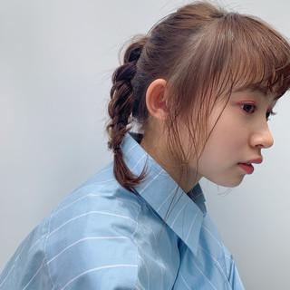 フェミニン パーマ 簡単ヘアアレンジ デート ヘアスタイルや髪型の写真・画像