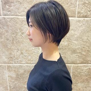 ミニボブ ハンサムショート ナチュラル ショートヘア ヘアスタイルや髪型の写真・画像