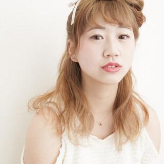ミディアム 簡単ヘアアレンジ 夏 ショート ヘアスタイルや髪型の写真・画像
