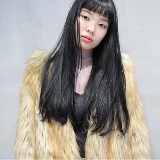 黒髪 モード ロング ヘアスタイルや髪型の写真・画像 ヘアスタイルや髪型の写真・画像