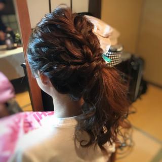 結婚式 ふわふわ ヘアアレンジ 大人可愛い ヘアスタイルや髪型の写真・画像