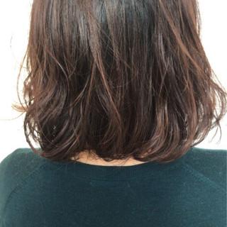 パーマ デート ミディアム ゆるふわ ヘアスタイルや髪型の写真・画像 ヘアスタイルや髪型の写真・画像
