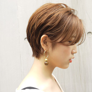 丸みショート ハンサムショート ばっさり 大人かわいい ヘアスタイルや髪型の写真・画像
