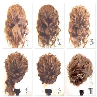 大人かわいい 編み込み ツイスト セミロング ヘアスタイルや髪型の写真・画像