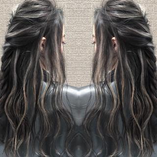 3Dハイライト 外国人風 ヘアアレンジ ロング ヘアスタイルや髪型の写真・画像