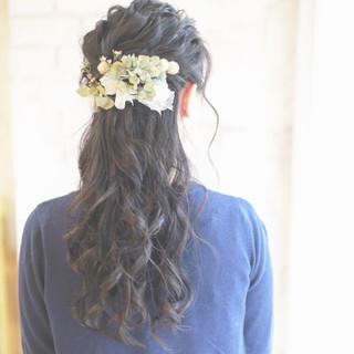 外国人風 簡単ヘアアレンジ ロング 成人式 ヘアスタイルや髪型の写真・画像