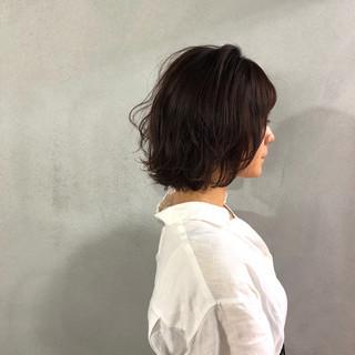 ナチュラル 切りっぱなし 外ハネ 簡単 ヘアスタイルや髪型の写真・画像 ヘアスタイルや髪型の写真・画像