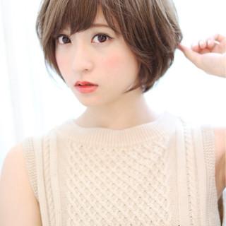 色気 ピュア ボブ ショート ヘアスタイルや髪型の写真・画像