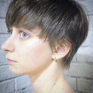 ナチュラル マッシュショート ショート ショートヘア ヘアスタイルや髪型の写真・画像