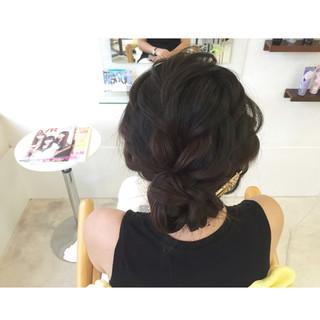 ヘアアクセ 簡単ヘアアレンジ 黒髪 ロング ヘアスタイルや髪型の写真・画像