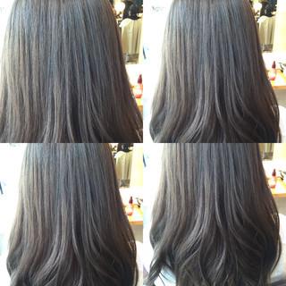 外国人風 艶髪 暗髪 ストリート ヘアスタイルや髪型の写真・画像