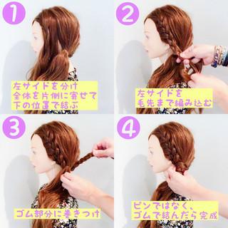 色気 涼しげ 簡単ヘアアレンジ ロング ヘアスタイルや髪型の写真・画像