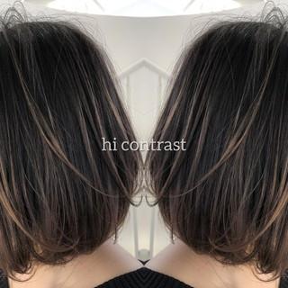 ボブ イルミナカラー 外国人風カラー グラデーションカラー ヘアスタイルや髪型の写真・画像