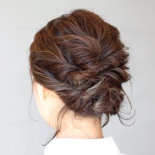 ハイライト 簡単ヘアアレンジ 結婚式 大人かわいい ヘアスタイルや髪型の写真・画像