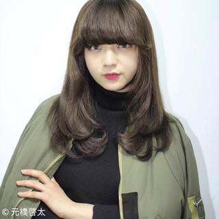 ロング アッシュ 外国人風 モード ヘアスタイルや髪型の写真・画像