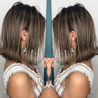 ハイライト グラデーションカラー 3Dハイライト 外国人風カラー ヘアスタイルや髪型の写真・画像