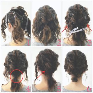 ローポニーテール くるりんぱ フィッシュボーン ボブ ヘアスタイルや髪型の写真・画像