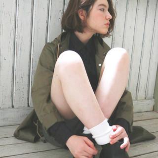 アッシュ 外国人風 ナチュラル パーマ ヘアスタイルや髪型の写真・画像