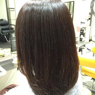 ブラウン ミディアム 抜け感 暗髪 ヘアスタイルや髪型の写真・画像