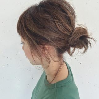 ショート ボブ お団子 簡単ヘアアレンジ ヘアスタイルや髪型の写真・画像 ヘアスタイルや髪型の写真・画像