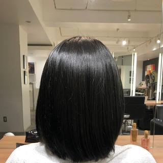 透明感 暗髪 透明感カラー ナチュラル ヘアスタイルや髪型の写真・画像