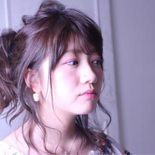ハーフアップ フェミニン 大人かわいい ガーリー ヘアスタイルや髪型の写真・画像