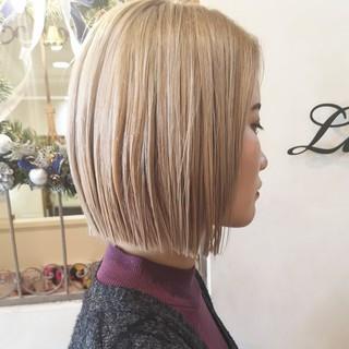ハイトーンカラー ストリート ダブルカラー ボブ ヘアスタイルや髪型の写真・画像