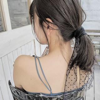 ヘアアレンジ ガーリー ミディアム デート ヘアスタイルや髪型の写真・画像 ヘアスタイルや髪型の写真・画像