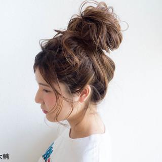 お団子 ヘアアレンジ 色気 夏 ヘアスタイルや髪型の写真・画像 ヘアスタイルや髪型の写真・画像