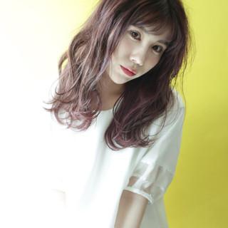 ピュア 清楚 美髪 セミロング ヘアスタイルや髪型の写真・画像