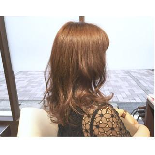 セミロング ロブ 前髪あり パーマ ヘアスタイルや髪型の写真・画像