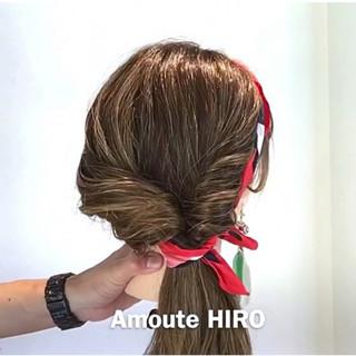 簡単ヘアアレンジ デート ヘアアレンジ フェミニン ヘアスタイルや髪型の写真・画像