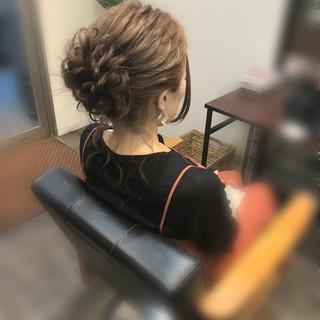 ヘアアレンジ アップ 結婚式 アップスタイル ヘアスタイルや髪型の写真・画像